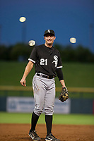 AZL White Sox third baseman Alex Maloney (21) on defense against the AZL Cubs on August 13, 2017 at Sloan Park in Mesa, Arizona. AZL White Sox defeated the AZL Cubs 7-4. (Zachary Lucy/Four Seam Images)