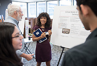 """A Case Study of Community-Led Development at East LA Community Corporation"" by Gabriela Elliott<br /> (Mentor: Martha Matsuoka , UEP)<br /> Occidental College's Undergraduate Research Center hosts their annual Summer Research Conference, Aug. 1, 2018. Student researchers presented their work as either oral or poster presentations at the final conference. The program lasts 10 weeks and involves independent research in all departments.<br /> (Photo by Marc Campos, Occidental College Photographer)"