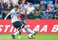 Crystal Palace Max Meyer and Everton Seamus Coleman during the Premier League match between Crystal Palace and Everton at Selhurst Park, London, England on 10 August 2019. Photo by Andrew Aleksiejczuk / PRiME Media Images.