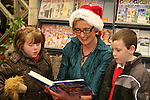 Amy Myles and Jamie O'Brien at the Christmas Story time in the Library..Photo NEWSFILE/Jenny Matthews.(Photo credit should read Jenny Matthews/NEWSFILE)....This Picture has been sent you under the condtions enclosed by:.Newsfile Ltd..The Studio,.Millmount Abbey,.Drogheda,.Co Meath..Ireland..Tel: +353(0)41-9871240.Fax: +353(0)41-9871260.GSM: +353(0)86-2500958.email: pictures@newsfile.ie.www.newsfile.ie.FTP: 193.120.102.198.