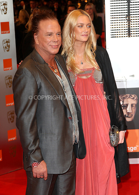 WWW.ACEPIXS.COM . . . . .  ..... . . . . US SALES ONLY . . . . .....February 21 2010, London....Actor Mickey Rourke and Elena Kuletskaya at the Orange British Academy Film Awards (BAFTA's) on February 21 2010 in London......Please byline: FAMOUS-ACE PICTURES... . . . .  ....Ace Pictures, Inc:  ..tel: (212) 243 8787 or (646) 769 0430..e-mail: info@acepixs.com..web: http://www.acepixs.com
