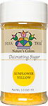 10254 Nature's Colors Sunflower Yellow Decorating Sugar, Small Jar 3.3 oz