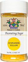 India Tree Nature's Colors natural Yellow Decorating Sugar, India Tree Decorating Sugar, natural sprinkles made with natural food color from plant-based ingredients