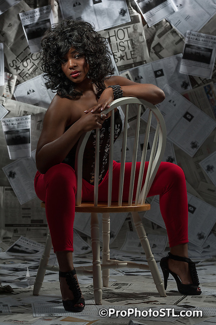 ESG's retro photo shoot unedited