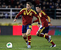 Spain's Deulofeu and Sarabia (r) during an International sub21 match. March 21, 2013.(ALTERPHOTOS/Alconada) /NortePhoto
