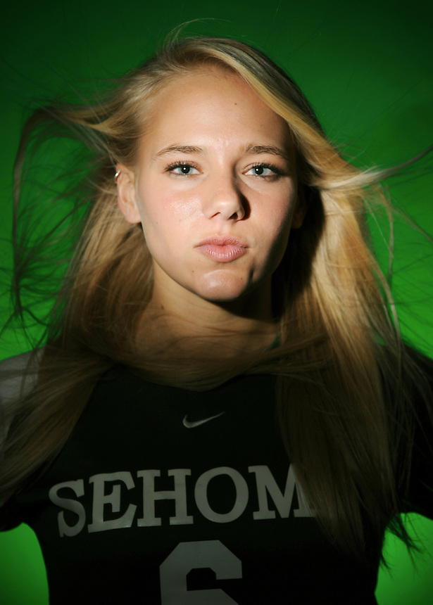 Sehome's Tanya Haggen has been named the All-County Girls Soccer Athlete of the Year for 2008. This portrait was made on Tuesday, December 16, 2008.