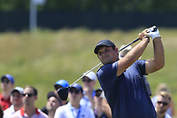Patrick Reed (USA) tees off the 9th tee during Saturday's Round 3 of the 118th U.S. Open Championship 2018, held at Shinnecock Hills Club, Southampton, New Jersey, USA. 16th June 2018.<br /> Picture: Eoin Clarke | Golffile<br /> <br /> <br /> All photos usage must carry mandatory copyright credit (&copy; Golffile | Eoin Clarke)