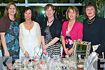 Sparkling Fashions - Ann Madigan of Ivy Leaf Jewellery, standing centre, showing off her wares at the 'A Splash of Fashion Show' held at Ballybunion  Health & Leisure centre on Friday night. Standing l/r Patricia Browne, Marie Hanrahan, Ann Madigan, Patricia Lennihan and Marie Hanrahan. .Two Marie Hanrahans