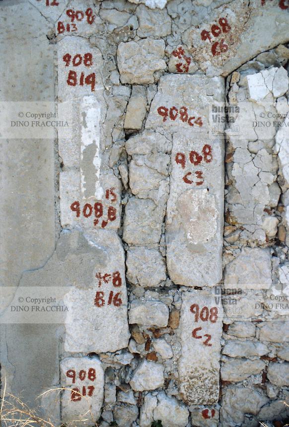 - reconstruction in Friuli after the earthquake of May 1976, remaking of the ancient medieval walls of Venzone with the original stones....- ricostruzione in Friuli dopo il terremoto del maggio 1976, rifacimento delle antiche mura medioevali di Venzone con le pietre originali....