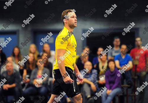 2014-08-30 / Volleybal / seizoen 2014-2015 / Amigos Zoersel / Kevin Geerinckx<br /><br />Foto: Mpics.be