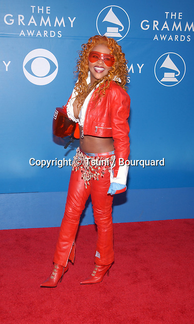 Lil Kim arrives for the 44th Annual Grammy Awards at the Staples Center in Los Angeles, Ca., Feb. 27, 2002.