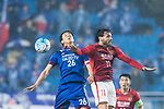 Guangzhou Forward Ricardo Goulart (R) in action against Suwon Midfielder Yeom Ki Hun (L) during the AFC Champions League 2017 Group G match Between Suwon Samsung Bluewings (KOR) vs Guangzhou Evergrande FC (CHN) at the Suwon World Cup Stadium on 01 March 2017 in Suwon, South Korea. Photo by Victor Fraile / Power Sport Images