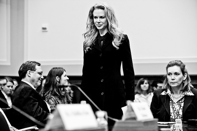 "Nicole Kidman, actress and UNIFEM Goodwill ambassador, arrives for the House Foreign Affairs Committee International Organizations, Human Rights and Oversight Subcommittee hearing on ""International Violence Against Women: Stories and Solutions"" on Oct. 21, 2009."