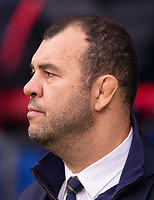 Australia's Head Coach Michael Cheika<br /> <br /> Photographer Bob Bradford/CameraSport<br /> <br /> 2018 Quilter Internationals - England v Australia - Saturday 24th November 2018 - Twickenham - London<br /> <br /> World Copyright &copy; 2018 CameraSport. All rights reserved. 43 Linden Ave. Countesthorpe. Leicester. England. LE8 5PG - Tel: +44 (0) 116 277 4147 - admin@camerasport.com - www.camerasport.com