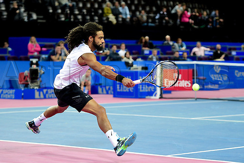 February 6th 2017, Montpellier, France; Open Sud de France tennis tournament;  Dustin Brown (Ger)