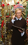 Cate Blanchett during the cast of 'Hamilton' 2016 Door Decorating Competition at Richard Rodgers Theatre on December 23, 2016 in New York City.