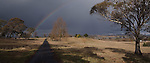 A Rainbow in the approaching storm at Guyra NSW