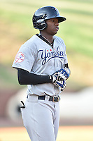 Pulaski Yankees center fielder Kendall Coleman (21) during a game against the Greeneville Astros on July 11, 2015 in Greeneville, Tennessee. The Yankees defeated the Astros 9-3. (Tony Farlow/Four Seam Images)