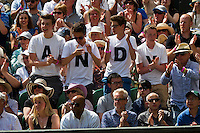 England, London, 28.06.2014. Tennis, Wimbledon, AELTC, Andy Murray fans<br /> Photo: Tennisimages/Henk Koster