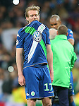WfL Wolfsburg's Andre Schurke dejected after Champions League 2015/2016 Quarter-finals 2nd leg match. April 12,2016. (ALTERPHOTOS/Acero)