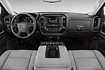 Stock photo of straight dashboard view of 2018 Chevrolet Silverado-1500 1LS-Crew-Cab-Short-Box 4 Door Pickup Dashboard