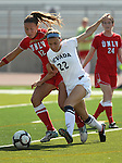 Nevada's Lauren Braman competes against UNLV's Denali Murnan during a soccer game in Reno, Nev., on Sunday, Sept. 3, 2011..Photo by Cathleen Allison