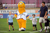 Lakeland Blue Claw mascot. Sky Blue FC and the Washington Freedom played to a 1-1 tie during a Women's Professional Soccer (WPS) match at Yurcak Field in Piscataway, NJ, on August 11, 2010.