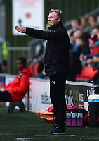 Fleetwood Town manager John Sheridan gestures<br /> <br /> Photographer Richard Martin-Roberts/CameraSport<br /> <br /> The EFL Sky Bet League One - Fleetwood Town v Plymouth Argyle - Saturday 10th March 2018 - Highbury Stadium - Fleetwood<br /> <br /> World Copyright &not;&copy; 2018 CameraSport. All rights reserved. 43 Linden Ave. Countesthorpe. Leicester. England. LE8 5PG - Tel: +44 (0) 116 277 4147 - admin@camerasport.com - www.camerasport.com