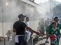 Pasadena, CA - Thursday June 09, 2016: Mexico Fans during a Copa America Centenario Group C match between Mexico (MEX) and Jamaica (JAM) at Rose Bowl Stadium.