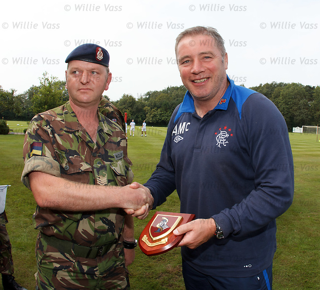 Ally McCoist with Staff Sgt McClurg of 1 Medical Regiment