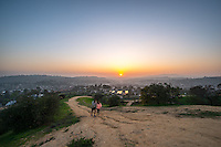 Sunset from Fiji Hill on the campus of Occidental College, overlooking Los Angeles, Jan. 21, 2015.<br /> (Photo by Marc Campos, Occidental College Photographer)