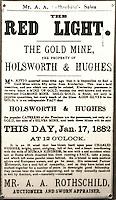 Sudafrica - Kimberley - Mine museum - Ricostruzione di un  villaggio di minatori, con molte case originali, nei pressi del Big Hole, annuncio di vendita di una miniera