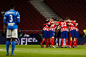 9th January 2018, Wanda Metropolitano, Madrid, Spain; Copa del Rey football, round of 16, second leg, Atletico Madrid versus Lleida; Atletico huddle pre-game