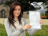 Lorraine Kelliher, Aghadoe, Killarney, with her  Junior Cert results at Presentation Secondary School Milltown  on Wednesday.  Picture: Eamonn Keogh (MacMonagle, Killarney)