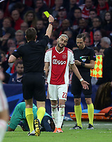Hakim Ziyech of Ajax is booked during AFC Ajax vs Tottenham Hotspur, UEFA Champions League Football at the Johan Cruyff Arena on 8th May 2019