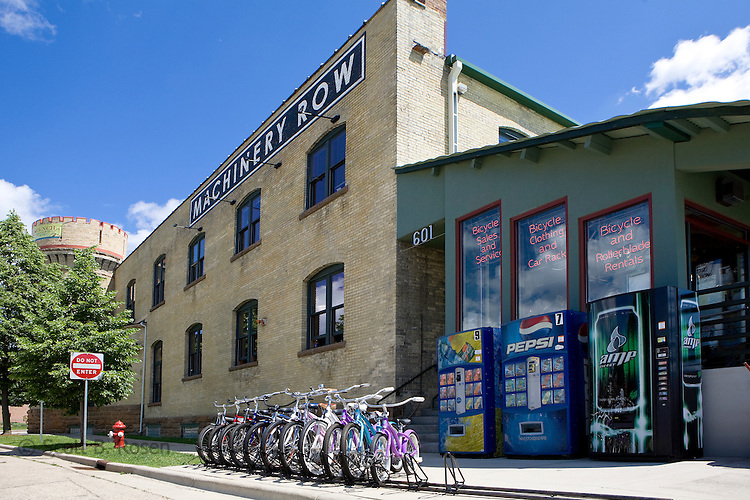 Machinery Row Bicycles provides easy access to the Lake Monona bike loop.