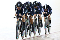 Michaela Drummond leads out front in the WE TP during the UCI Track Cycling World Cup on January 18, 2019 in Cambridge New Zealand. (Photo by Dianne Manson)
