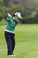 Ai Miyazato (JPN) playing her final tournament of her career   plays her 2nd shot on the 7th hole during Wednesday's Pro-Am Day of The Evian Championship 2017, the final Major of the ladies season, held at Evian Resort Golf Club, Evian-les-Bains, France. 13th September 2017.<br /> Picture: Eoin Clarke | Golffile<br /> <br /> <br /> All photos usage must carry mandatory copyright credit (&copy; Golffile | Eoin Clarke)