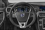 Car pictures of steering wheel view of a 2014 Volvo V60 Summum R-design 5 Door Wagon 2WD Steering Wheel