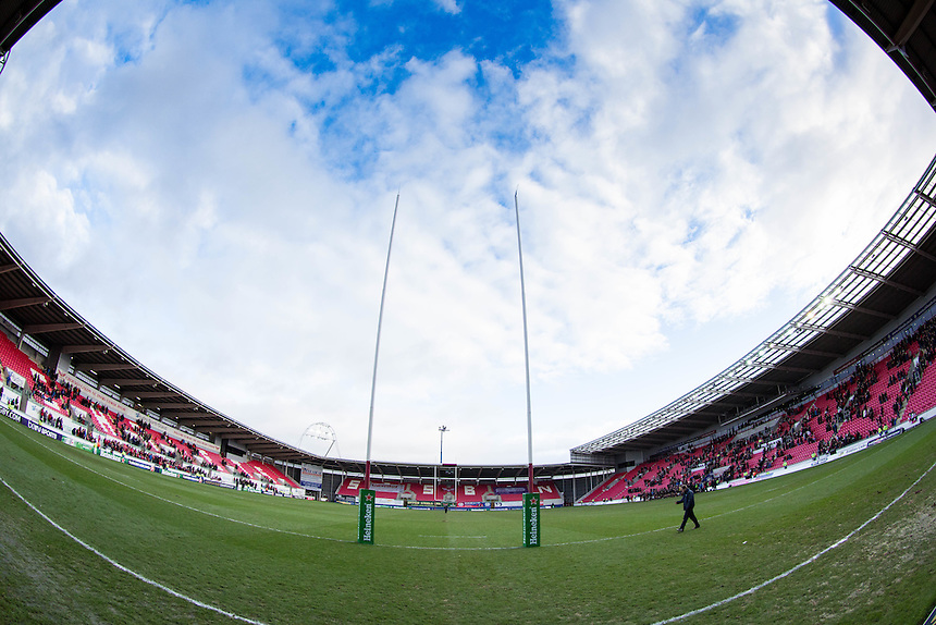 A general view of Parc Y Scarlets, home of Scarlets<br /> <br /> Photographer Simon King/CameraSport<br /> <br /> European Rugby Champions Cup Pool 3 - Scarlets v Saracens - Sunday 15th January 2017 - Parc y Scarlets - Llanelli <br /> <br /> World Copyright &copy; 2017 CameraSport. All rights reserved. 43 Linden Ave. Countesthorpe. Leicester. England. LE8 5PG - Tel: +44 (0) 116 277 4147 - admin@camerasport.com - www.camerasport.com