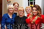 Vera O'Grady (Ballyduff), Veronica Dennihan (Kilmoyley), Bridie Carey (Tralee), Phyllis and Susie Whyte (Causeway), enjoying the Womens Little Christmas celebrations in the Denny Lane Restaurant on Saturday night,