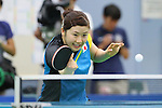 Ai Fukuhara (JPN), <br /> JULY 22, 2016 - Table Tennis : <br /> Japan national team training session <br /> for Rio Olympic Games 2016 <br /> at Ajinomoto National Training Center, Tokyo, Japan. <br /> (Photo by YUTAKA/AFLO SPORT)