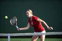 Carolyn McVeigh of the 2010 Stanford women's Tennis Team.