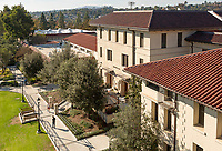 Occidental College's Hinchliffe Hall and Swan Hall.<br /> (Photo by Marc Campos, Occidental College Photographer)