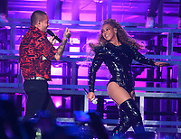 INDIO, CA - APRIL 21: J Balvin performs with Beyonce at the 2018 Coachella Valley Music And Arts Festival at Indio Polo Grounds on April 21, 2018 in Indio, California. (Photo by Frank Micelotta/PictureGroup)