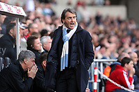 Pictured: Manchester City manager Roberto Mancini.<br />