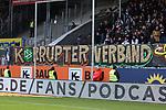 Spruchband gegen den DFB in Sandhausen  beim Spiel in der 2. Bundesliga, SV Sandhausen - FC St. Pauli.<br /> <br /> Foto © PIX-Sportfotos *** Foto ist honorarpflichtig! *** Auf Anfrage in hoeherer Qualitaet/Aufloesung. Belegexemplar erbeten. Veroeffentlichung ausschliesslich fuer journalistisch-publizistische Zwecke. For editorial use only. For editorial use only. DFL regulations prohibit any use of photographs as image sequences and/or quasi-video.