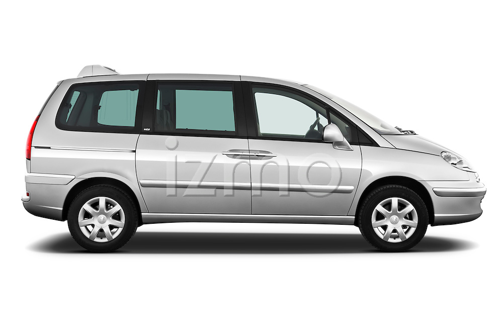 Passenger side profile view of a 2011 Peugeot 807 SV Executive Minivan Stock Photo