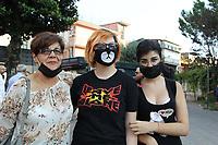 NAPOLI, ITALIA, 31.07.2018 - PROTESTO-ITALIA - Protesto contra incendios tóxicos em Caivano em Napoli na Italia nesta terça-feira, 31. (Foto: Salvatore Esposito/Brazil Photo Press)