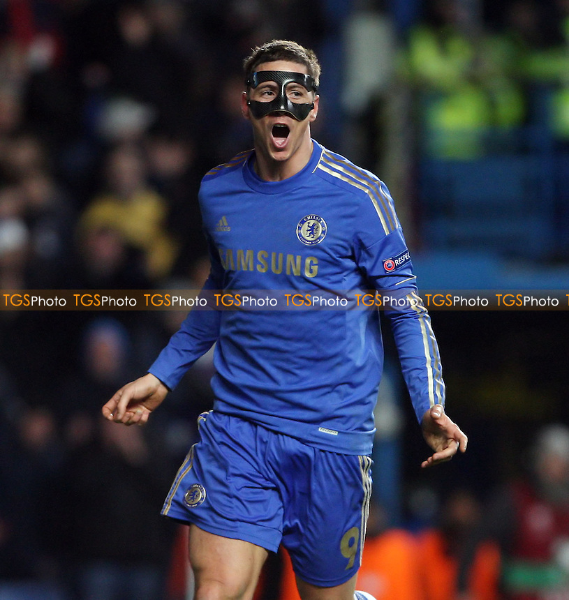 Fernando Torres celebrates after scoring the 3rd goal for Chelsea - Chelsea vs Rubin Kazan, UEFA Europa League Quarter Final 1st Leg at Stamford Bridge, Chelsea - 04/04/13 - MANDATORY CREDIT: Rob Newell/TGSPHOTO - Self billing applies where appropriate - 0845 094 6026 - contact@tgsphoto.co.uk - NO UNPAID USE.